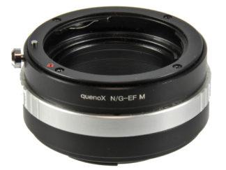 Quenox Adapter Nikon an Canon EOS M