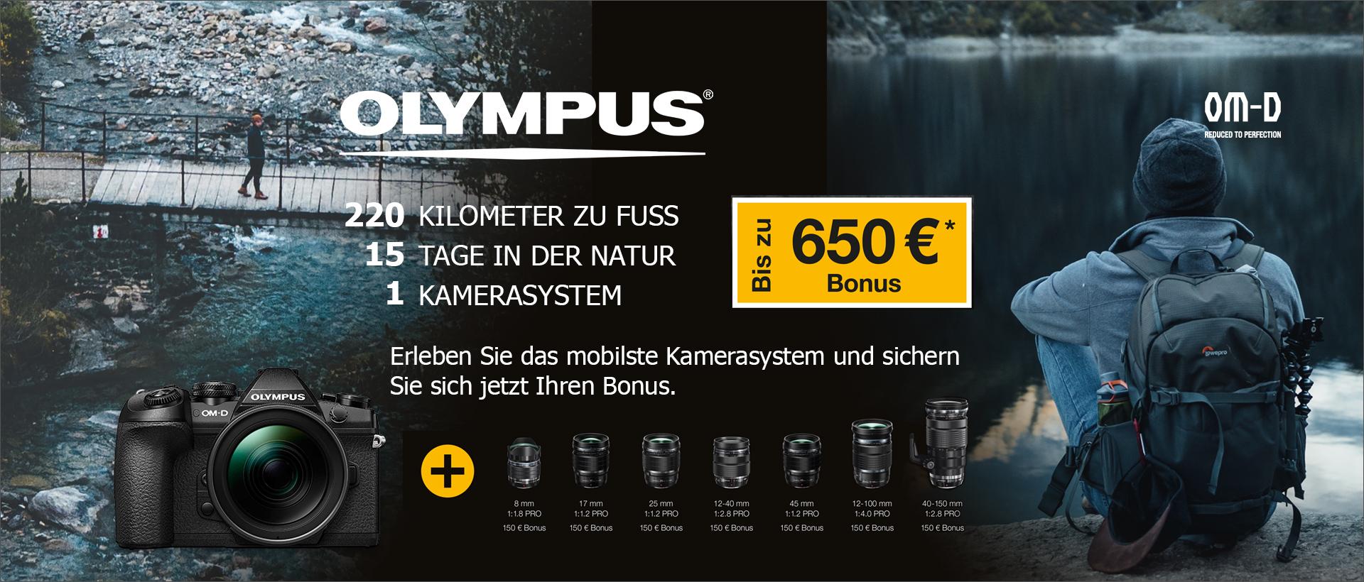 Jetzt mit der OLYMPUS PRO PROMOTION bis zu 650 EUR sparen!