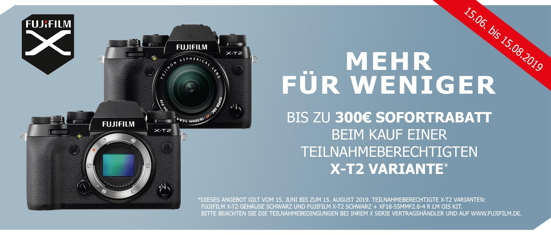 Fujifilm X-T2 Sofortrabatt