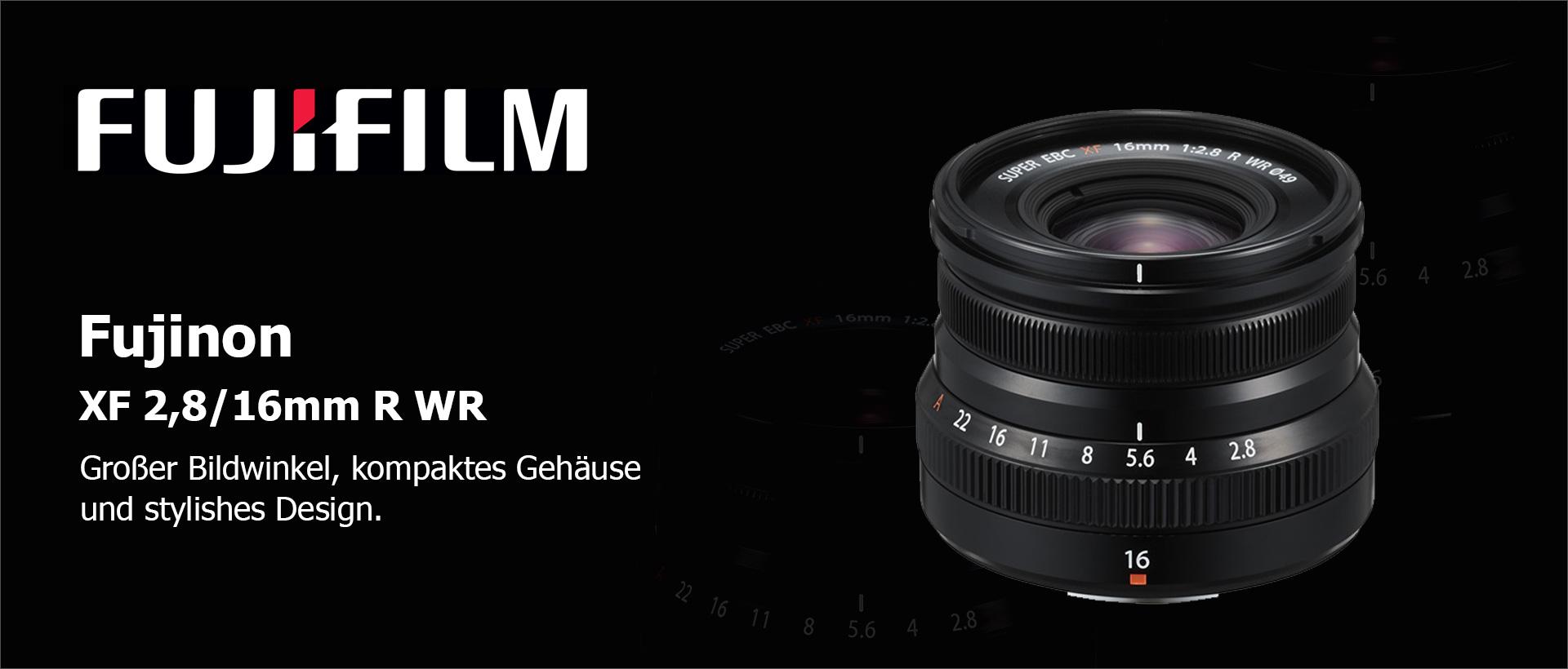 Fujinon XF 2,8/16mm R WR schwarz