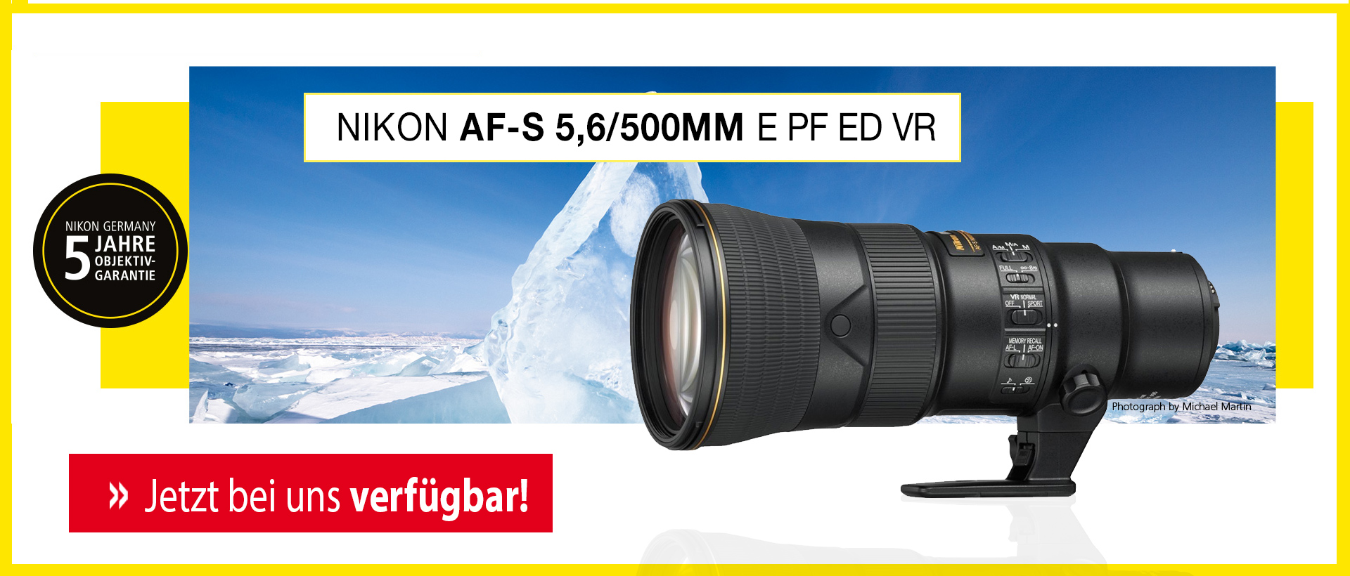 Nikon AF-S 5,6/500mm E PF ED VR + 5-Jahre-Garantie-Aktion