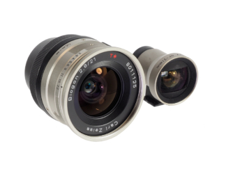 Zeiss Biogon 2,8/21mm + Sucher Contax G
