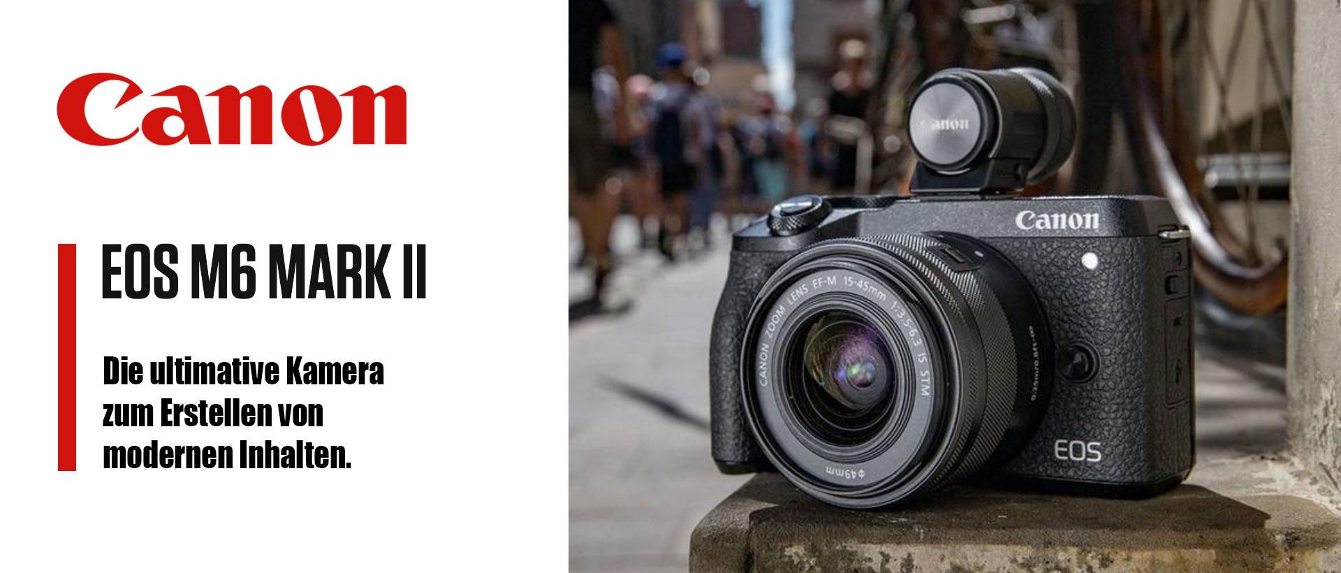 Canon EOS M6 Mark II + 15-45mm schwarz