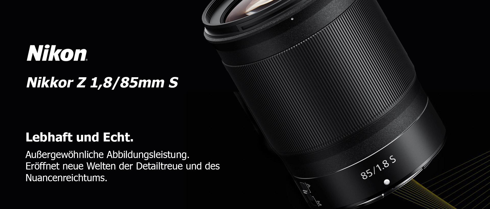 Nikon Z 1,8/85mm S + 5-Jahre-Garantie-Aktion