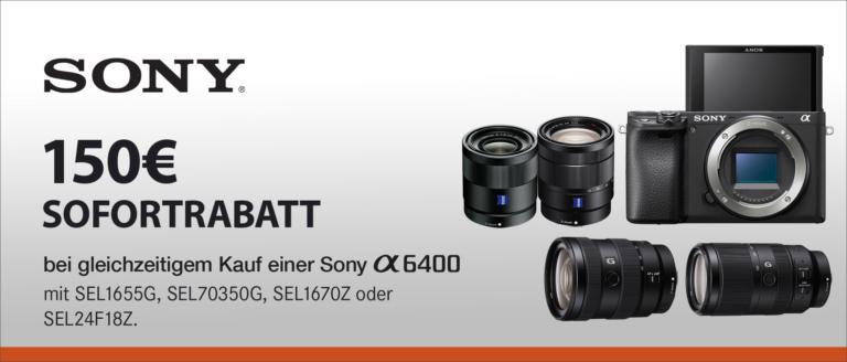 Sony Alpha 6400 Sofortrabatt