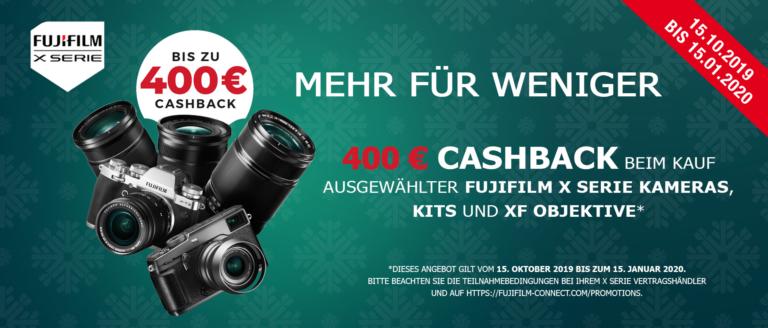 Fujifilm X-Serie Cashback Aktion