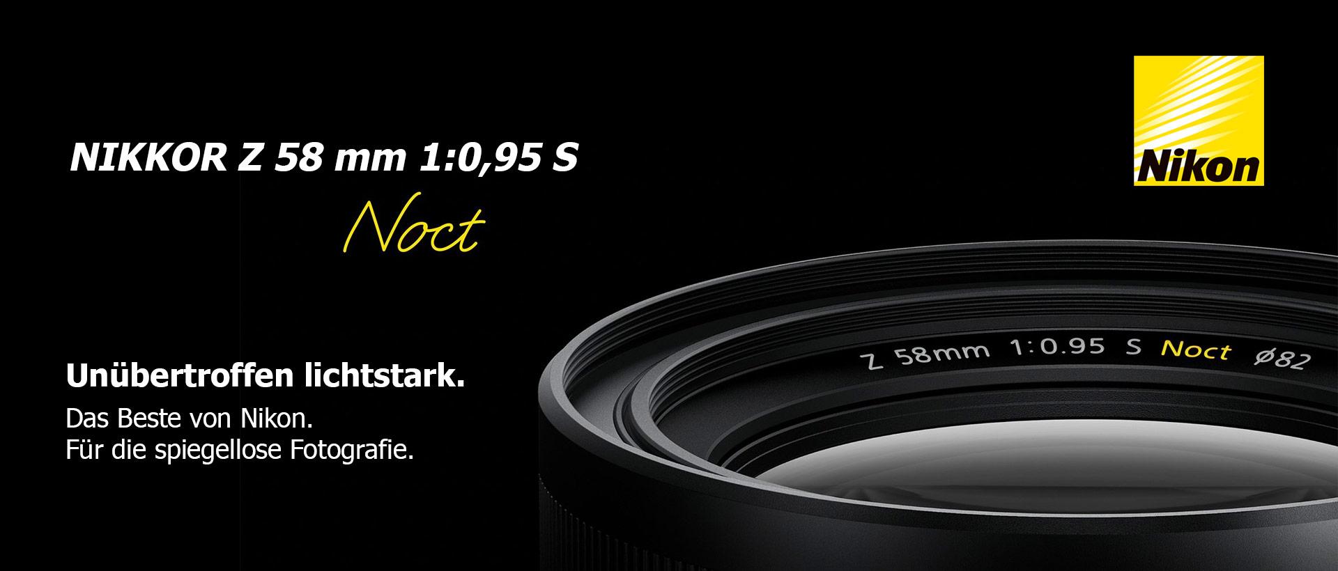 Nikon Z 0,95/58mm S Noct + 5-Jahre-Garantie-Aktion