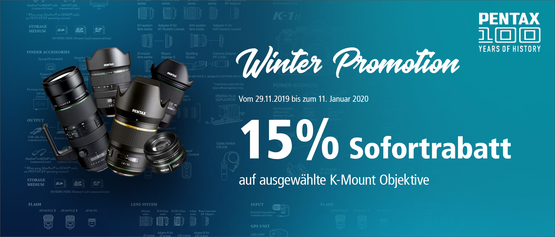 PENTAX K-Mount Objektive Winter Promotion