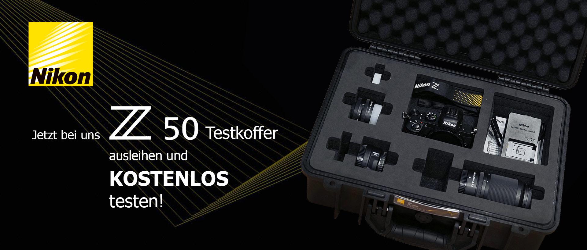 Nikon Z50 Leihaktion - Nikon Z50 Testkoffer kostenlos ausleihen!