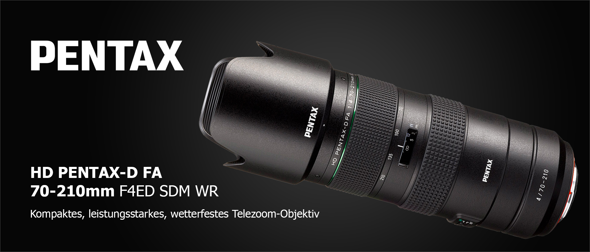 Pentax D FA 4,0/70-210mm HD SDM WR NEU