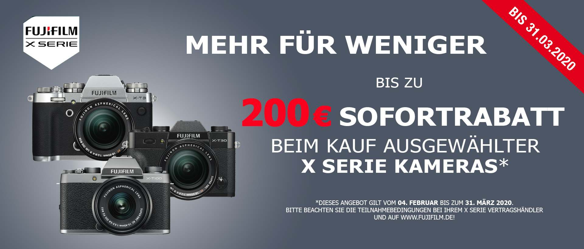 Fujifilm X Serie Sofortrabatt Aktion