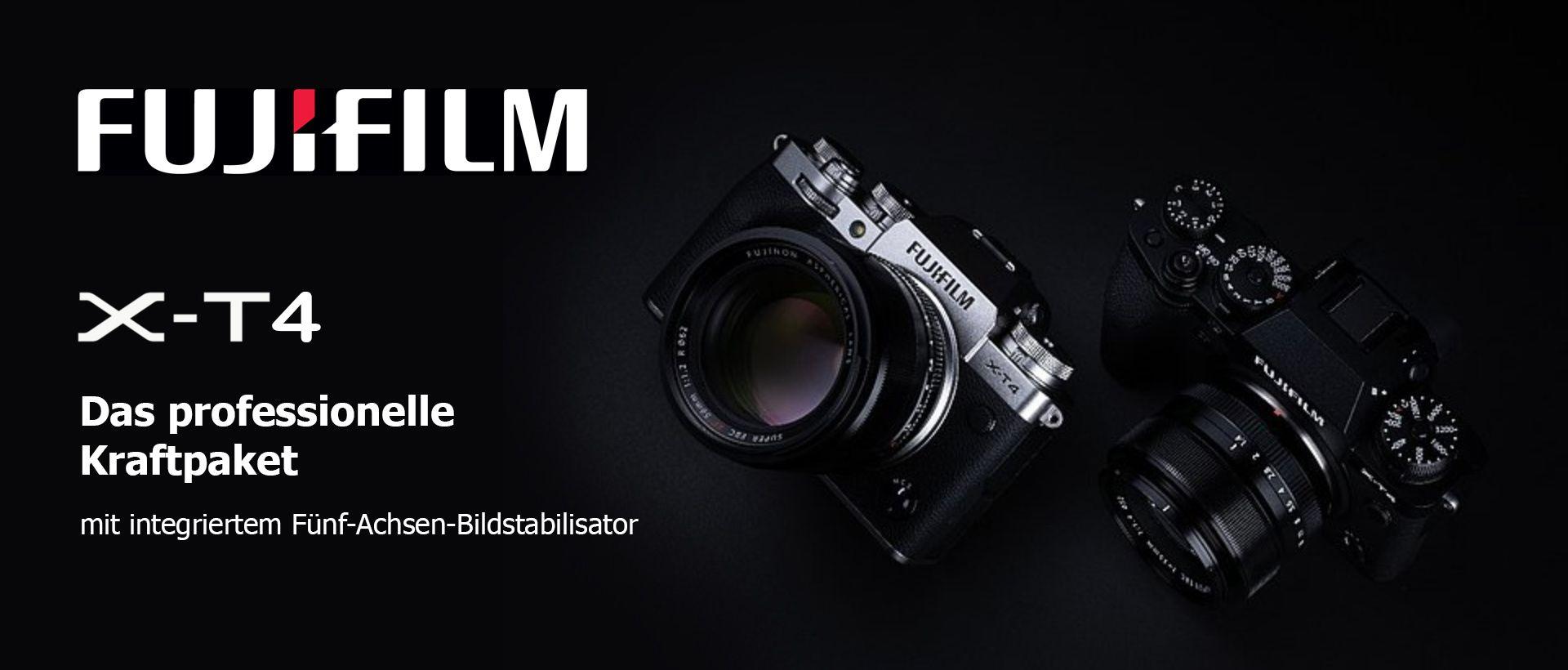 Fuji X-T4 schwarz und silber