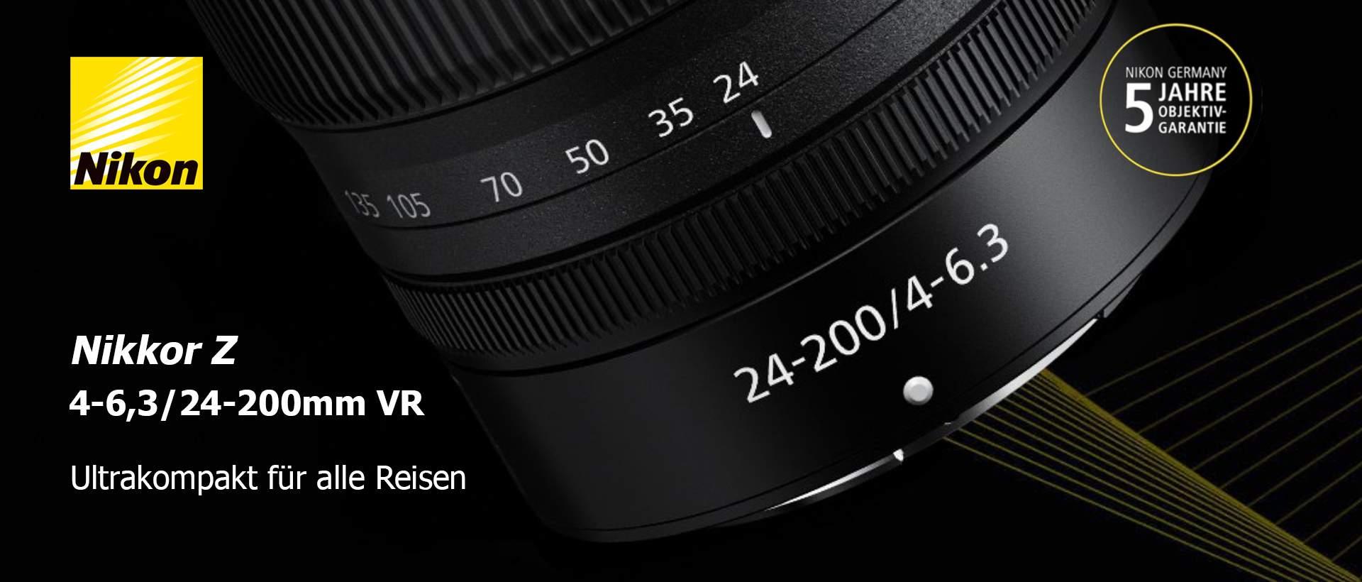 Nikon Z 4-6,3/24-200mm VR + 5-Jahre-Garantie-Aktion
