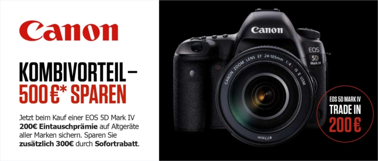 Canon EOS 5D Mark IV Aktion Trade-In