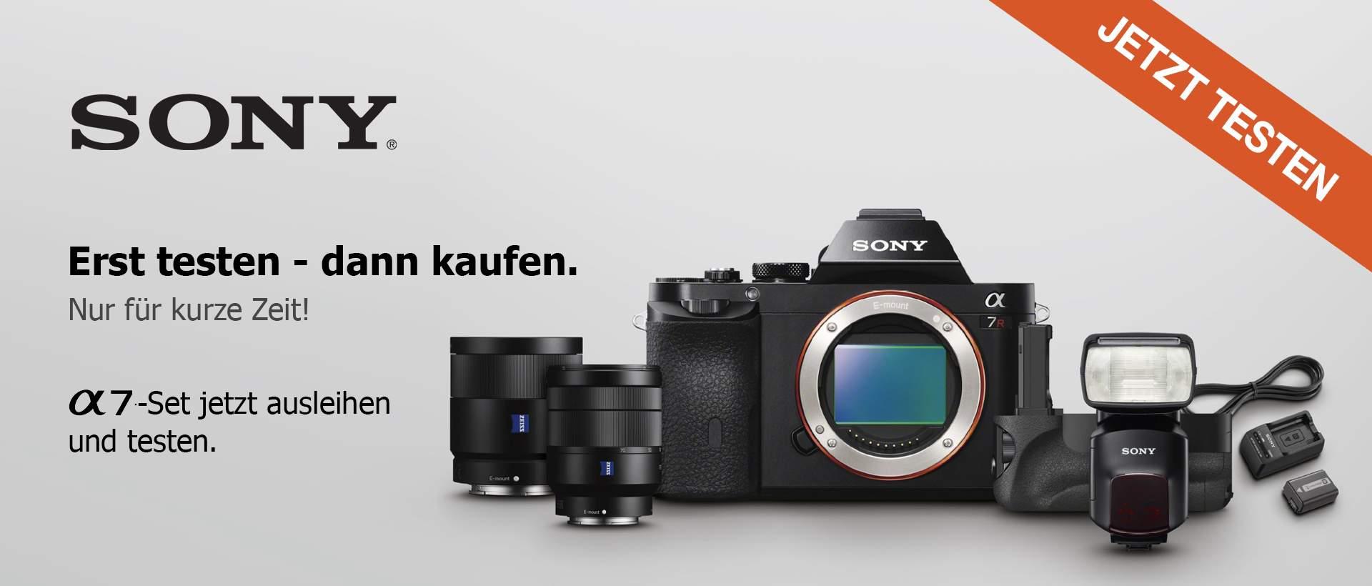 Leihaktion: Sony Testkoffer