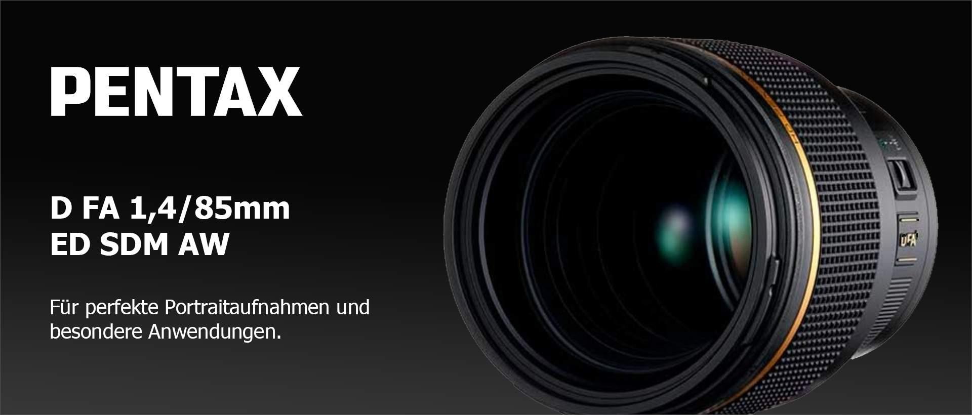 Pentax D FA 1,4/85mm ED SDM AW