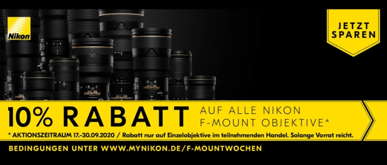 Nikon F-Mount Rabatt Aktion