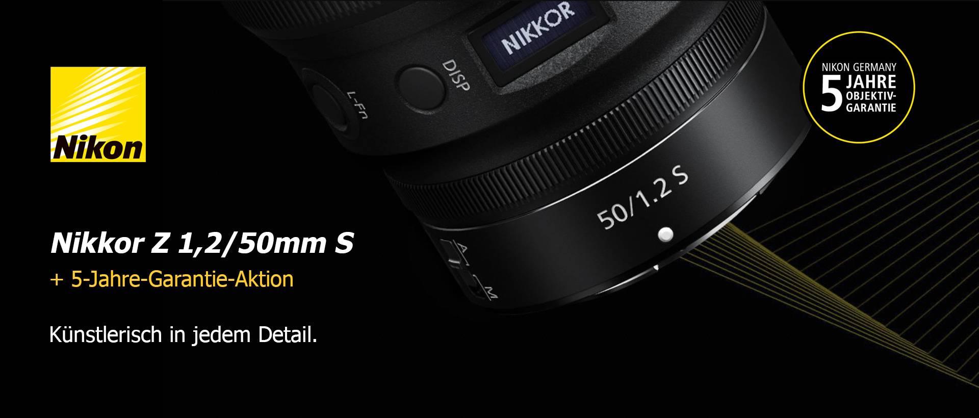 Nikon Z 1,2/50mm S + 5-Jahre-Garantie-Aktion