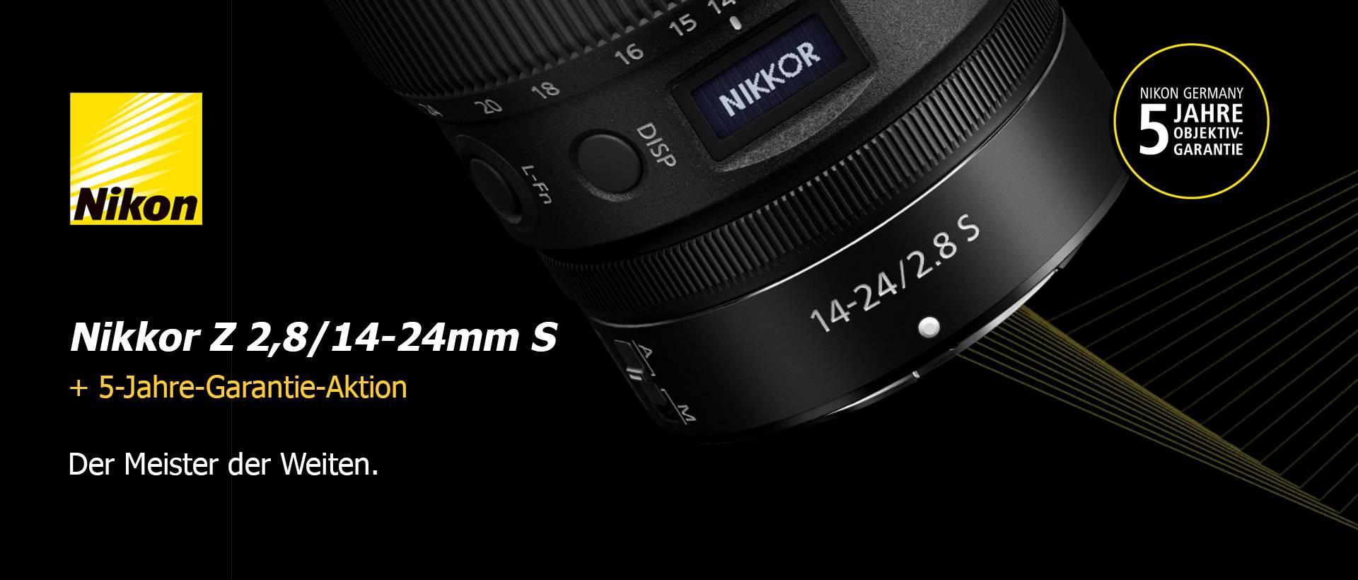 Nikon Z 2,8/14-24mm S + 5-Jahre-Garantie-Aktion
