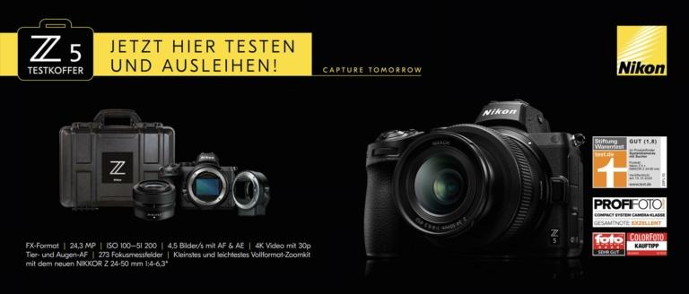 Leihaktion: Nikon Z5 Testkoffer