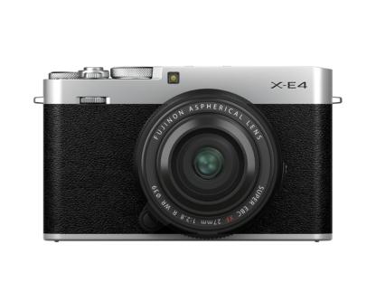 Fuji X-E4 silber + XF 2,8/27mm R WR