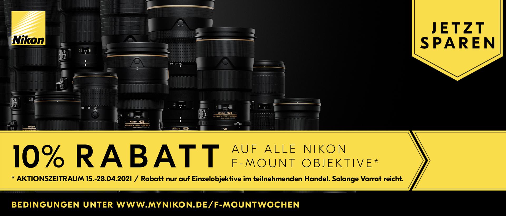 Nikon F-Objektiv Aktion