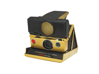 "Polaroid SX-70 Land Camera ""Gold"""