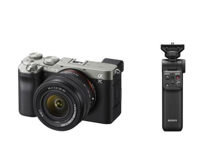Sony Alpha 7c + 4,0-5,6/28-60mm silber + GP-VPT2BT Griff