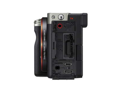 Sony Alpha 7c + 4,0-5,6/28-60mm silber + GP-VPT2BT Griff + ECM-W2BT Mikrofon