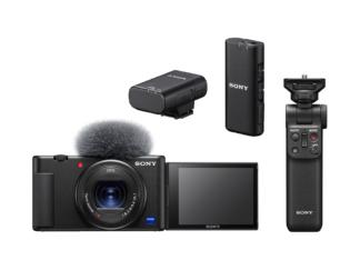 Sony ZV-1 Vlog-Kamera + GP-VPT2BT Griff + ECM-W2BT Mikrofon