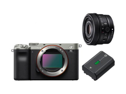 Sony Alpha 7c silber + SEL FE 2,5/50mm Premium G + GRATIS Akku!