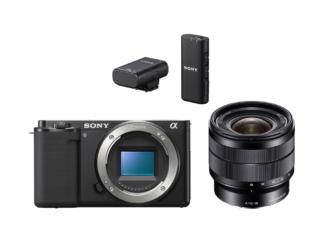 Sony ZV-E10 Gehäuse + SEL 4,0/10-18mm OSS + ECM-W2BT Mikrofon