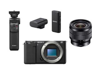 Sony ZV-E10 Gehäuse + SEL 4,0/10-18mm OSS + GP-VPT2BT Handgriff + ECM-W2BT Mikrofon
