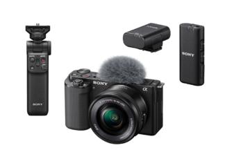 Sony ZV-E10 Kit + GP-VPT2BT Handgriff + ECM-W2BT Mikrofon