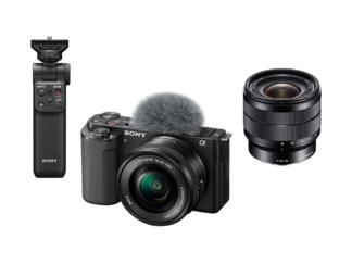 Sony ZV-E10 Kit + SEL 4,0/10-18mm OSS + GP-VPT2BT Handgriff