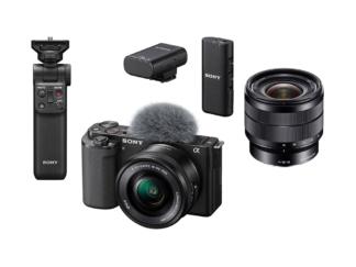 Sony ZV-E10 Kit + SEL 4,0/10-18mm OSS + GP-VPT2BT Handgriff + ECM-W2BT Mikrofon