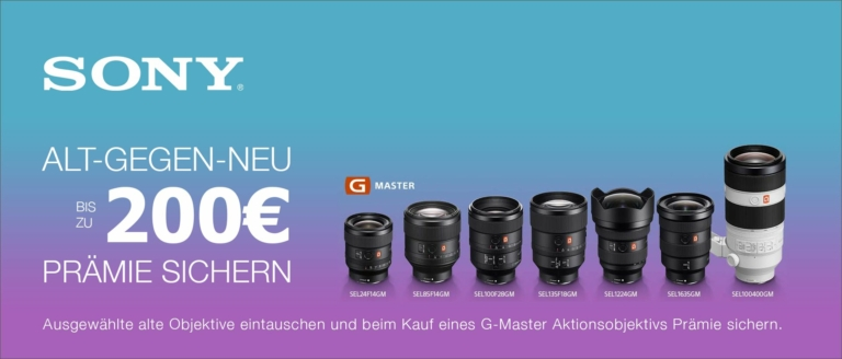 Sony G-Master Trade-In Aktion
